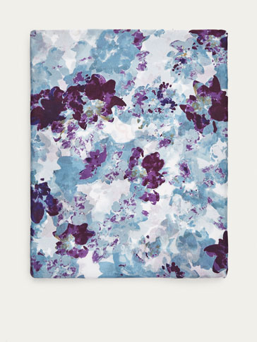 WATERCOLOUR FLORAL PRINT SILK SCARF