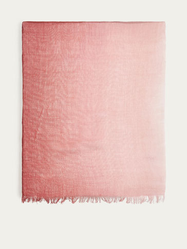 TWO-TONED OMBRÉ SCARF