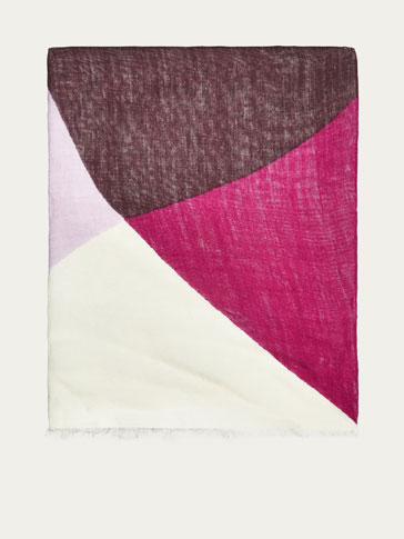 WOOL FOUR-COLOUR FOULARD