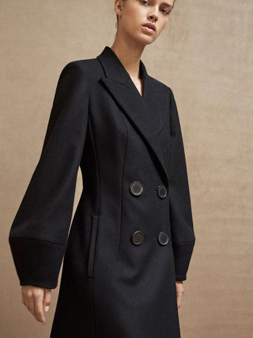 LIMITED EDITION BLACK WOOL COAT