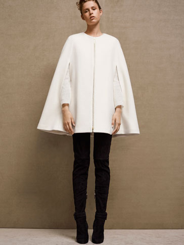 LIMITED EDITION SOLID-COLOURED WOOL CAPE