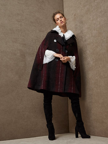 LIMITED EDITION EMBELLISHED WOOL CAPE