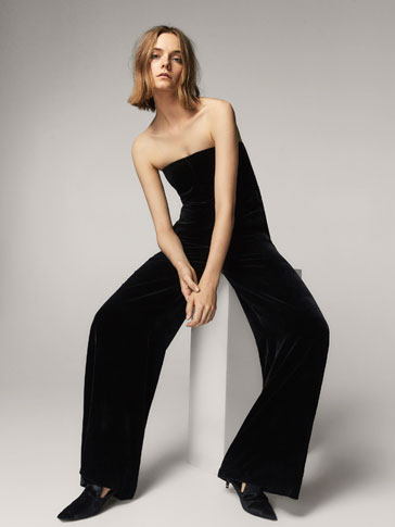 LIMITED EDITION CONTRASTING VELVET JUMPSUIT