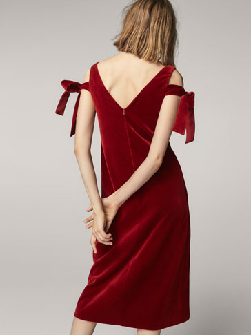 LIMITED EDITION VELVET DRESS WITH CUT-OUT DETAIL