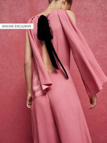 LIMITED EDITION JUMPSUIT WITH SLEEVE AND PLEAT DETAILS