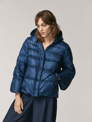 CAPE-STYLE PUFFER JACKET