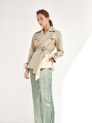 TRENCH COAT WITH BOW DETAIL