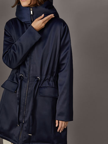 PARKA WITH BOW BELT