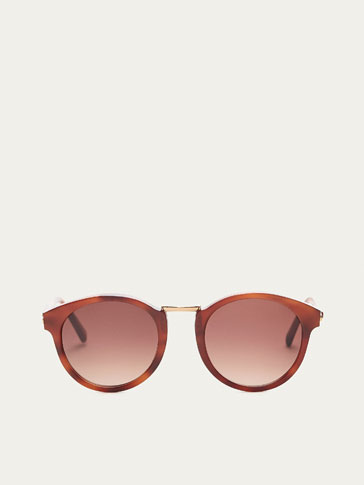 ROUND BROWN TORTOISESHELL SUNGLASSES
