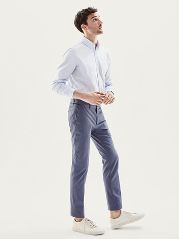 PANTALON CHINO MICROESTAMPADO SLIM FIT