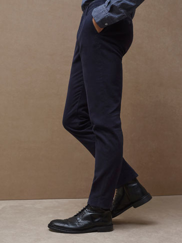 LIMITED EDITION SLIM FIT TWILL TROUSERS