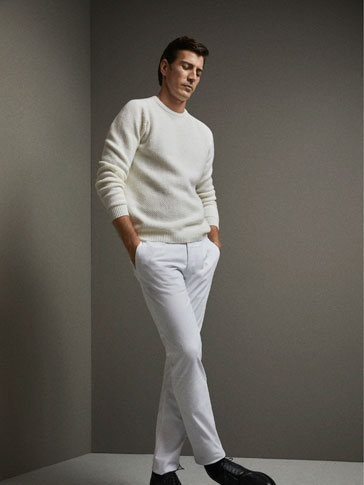 LIMITED EDITION SLIM FIT SOPHISTICATED WOOL GABARDINE-EFFECT CHINOS