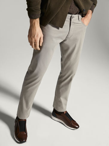 SOPHISTICATED CASUAL FIT TWILL JEANS