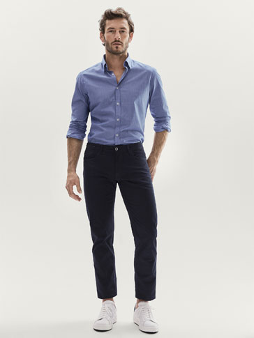 PANTALON TEJANERO MICRO ESTAMPADO SLIM FIT