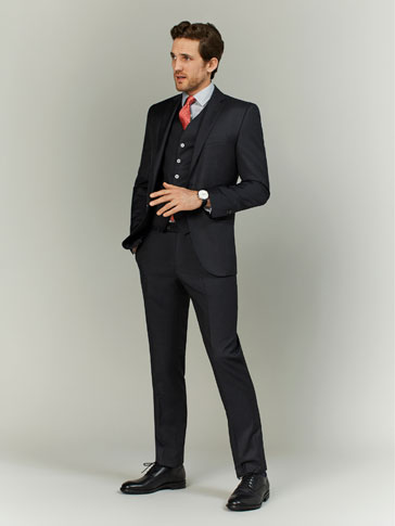 FIL À FIL WOOL SLIM FIT TROUSERS