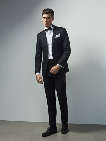 PANTALON SMOKING NOIR SLIM FIT