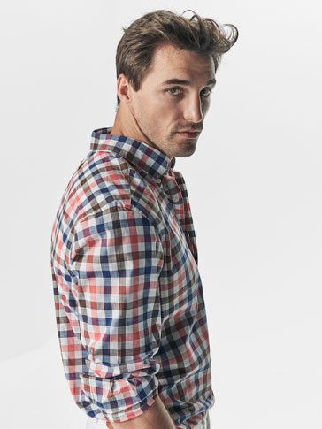 CAMISA DE CUADROS MULTICOLOR SLIM FIT