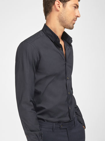 SLIM PLAIN STRETCH SHIRT