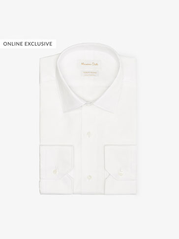 TRAVEL COLLECTION PLAIN TWILL SLIM FIT SHIRT