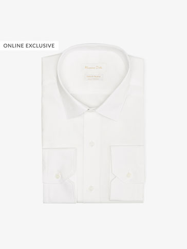 TRAVEL COLLECTION PLAIN SLIM FIT POPLIN SHIRT