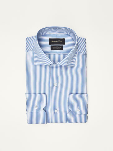 TRAVEL COLLECTION STRIPED SLIM FIT POPLIN SHIRT