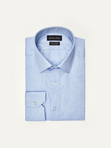 TAILORED SHIRT WITH TEXTURED CIRCLES