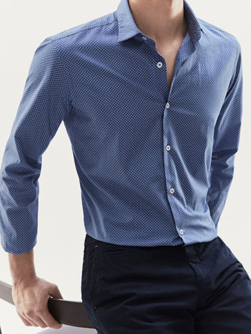 SLIM FIT POLKA DOT SHIRT