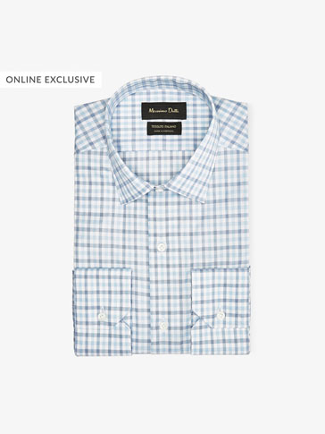 TRAVEL COLLECTION CHECKED SLIM FIT SHIRT