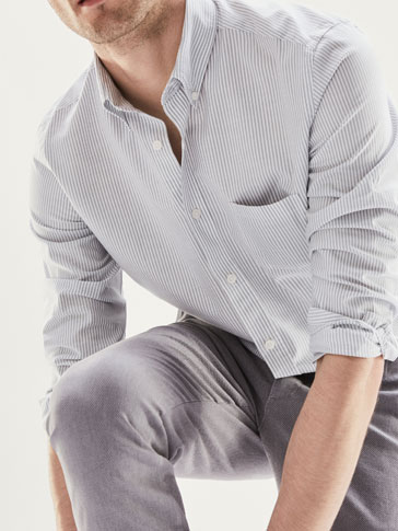 STRIPED CASUAL FIT SHIRT