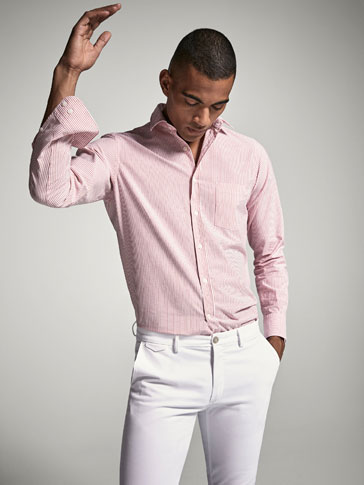 CAMISA EN OXFORD DE RAYAS CASUAL FIT