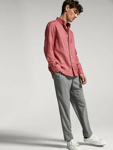CAMISA OXFORD PEACH