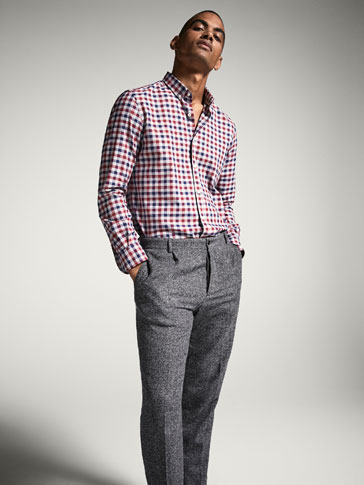 SLIM FIT MULTICOLOURED GINGHAM SHIRT