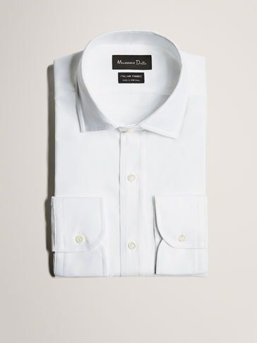 LIMITED EDITION SLIM FIT COTTON SHIRT WITH TEXTURED WEAVE