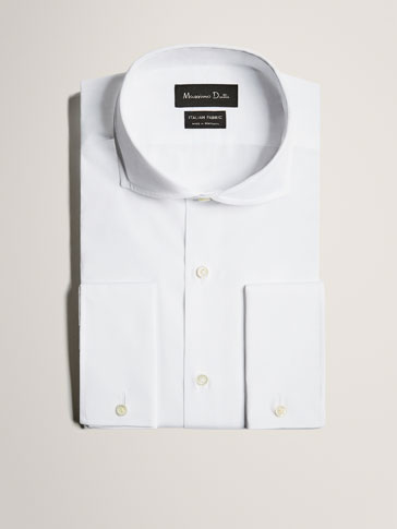 LIMITED EDITION SLIM FIT WHITE COTTON SHIRT
