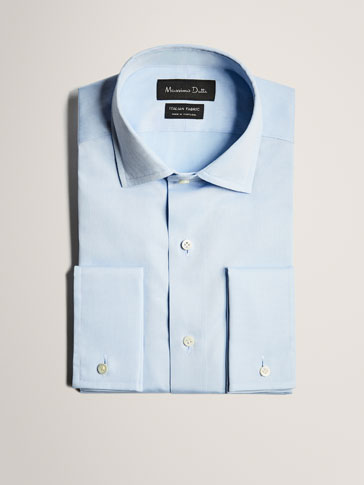 LIMITED EDITION SLIM FIT SKY BLUE COTTON SHIRT