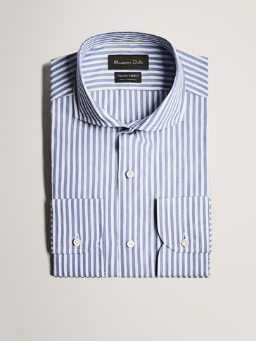 LIMITED EDITION SLIM FIT STRIPED COTTON SHIRT