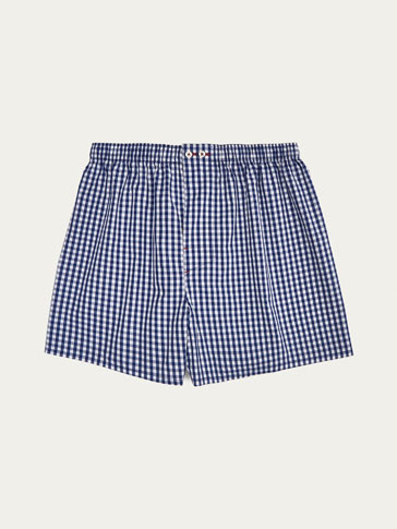 NAVY BLUE GINGHAM CHECK BRIEFS