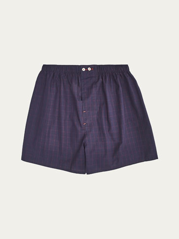 WINDOW PANE CHECK PRINT BOXERS