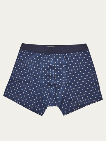 BOXERS WITH CONTRASTING PRINT