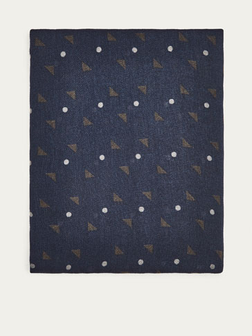 REVERSIBLE PRINTED WOOL FOULARD
