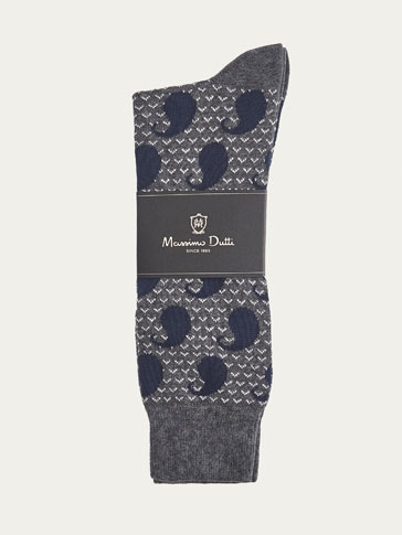 PAISLEY BRUSHED COTTON SOCKS