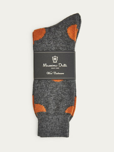 LIMITED EDITION WOOL/CASHMERE POLKA DOT SOCKS
