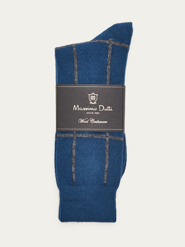 LIMITED EDITION WOOL/CASHMERE CHECKED SOCKS