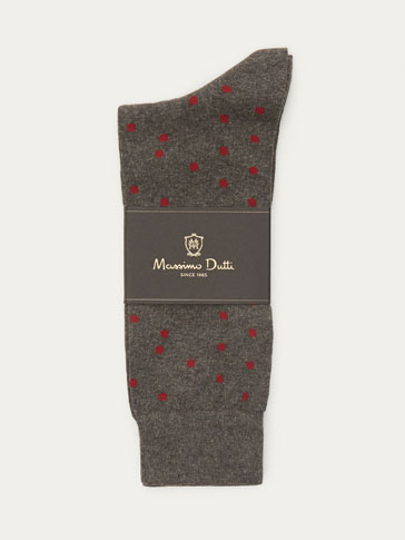 SOFT COMBED COTTON POLKA DOT SOCKS