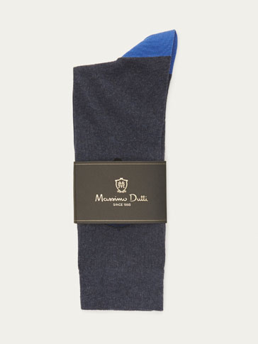 COMBED COTTON SOCKS WITH UMBRELLA DETAIL