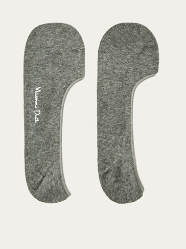 PLAIN COMBED COTTON NO SHOW SOCKS