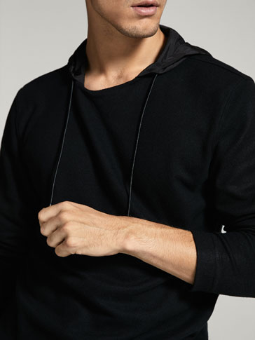 COMBINED SWEATSHIRT WITH TECHNICAL DETAIL