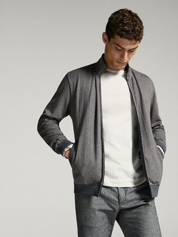 COMBINED SWEATSHIRT WITH ZIP DETAIL
