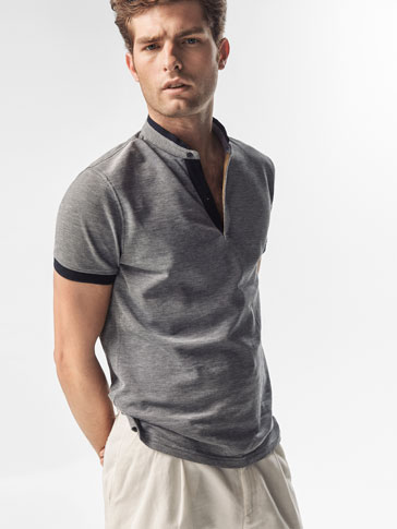 POLO SHIRT WITH CONTRASTING DETAIL