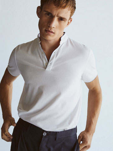 POLO SHIRT WITH CONTRASTING TRIMS